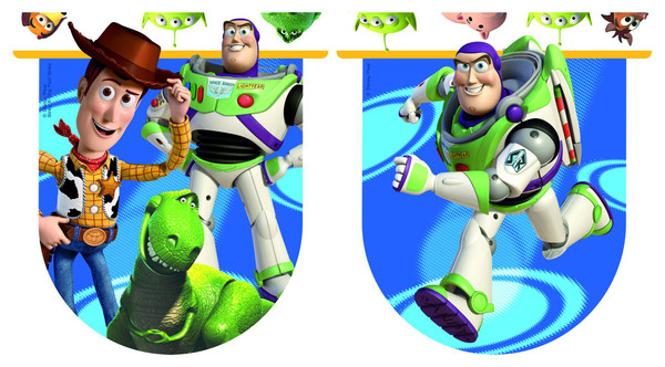 Toy Story Star Power - 11 Flaggen Die-cut Flaggenbanner