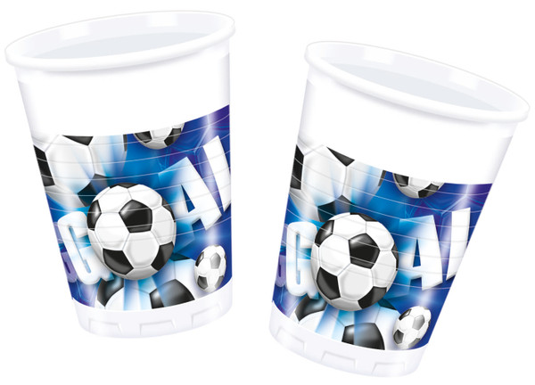 Football - 10 Plastikbecher 200 ml