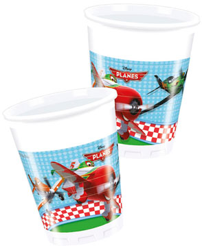 Planes - 8 Plastikbecher 200ml