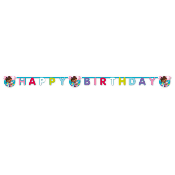 Doc McStuffins - 1 Happy Birthday Die-cut Banner