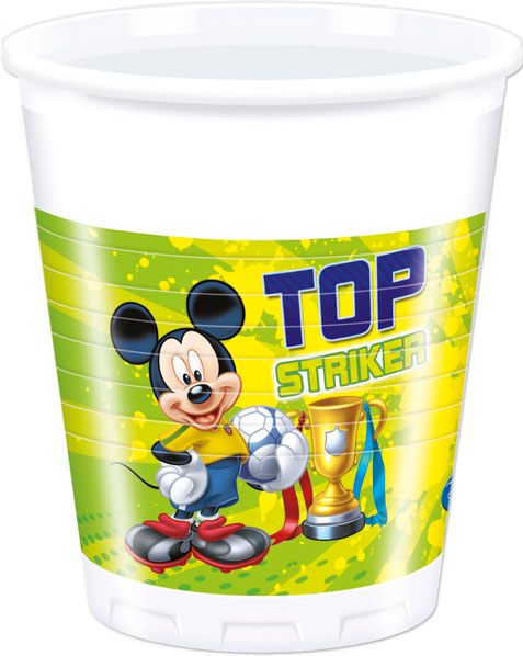 Mickey Goal - 8 Plastikbecher 200ml
