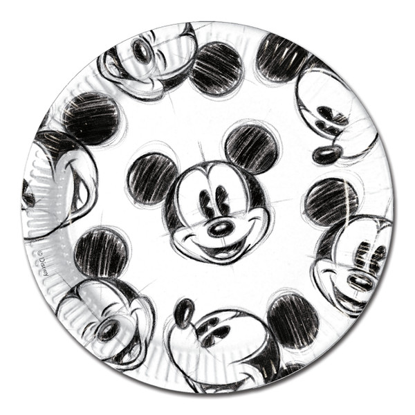 Mickey Faces - 25 Pappteller 23cm