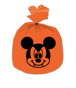 Mickey Halloween - 6 Decoration Bags