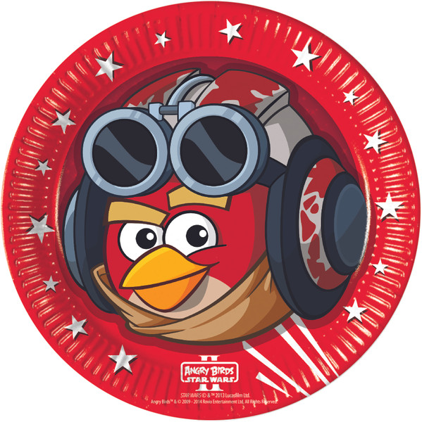 Angry Birds-Star Wars - 8 Pappteller 23cm