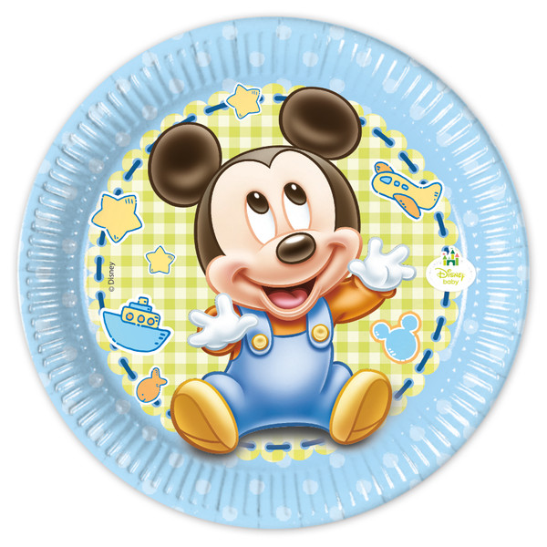 Baby Mickey - 8 Pappteller Medium 20cm