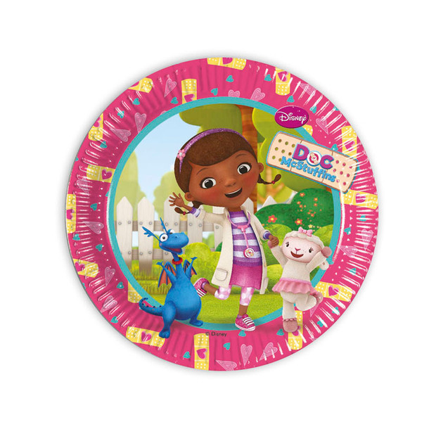 Doc McStuffins - 8 Pappteller Medium 20cm