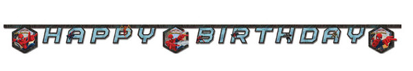 Ultimate Spiderman Web Warriors - 1 Happy Birthday Banner