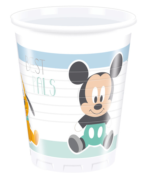 INFANT MICKEY - 8 Plastikbecher 200ml