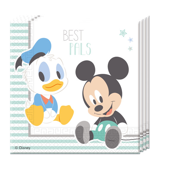 INFANT MICKEY - 20 Papierservietten (2-lagig) 33x33cm