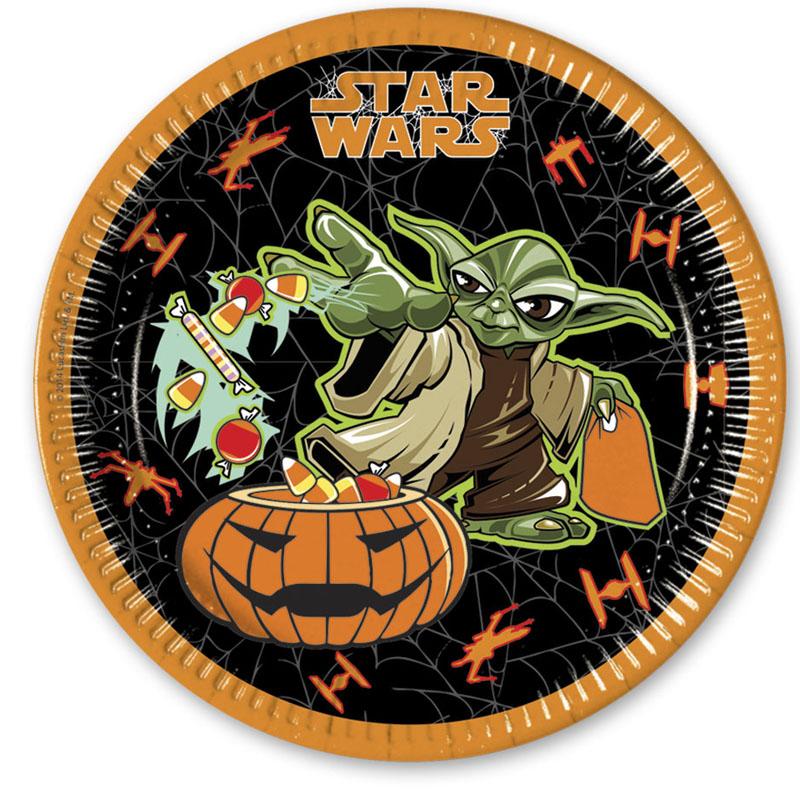 Star Wars Halloween - 8 Pappteller Groß 23cm