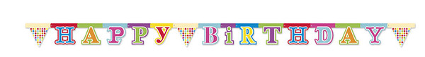 Happy Birthday Dots - 1 Happy Birthday Die-cut Banner