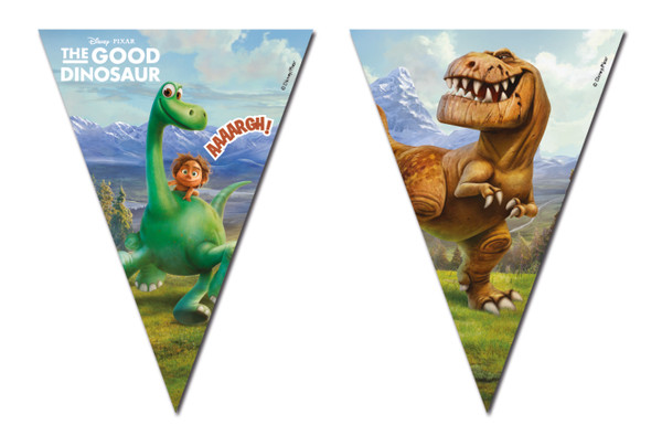 THE GOOD DINOSAUR - 1 Flaggenbanner (3-eckig) (9 Flaggen)