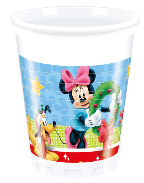 Mickey CHRISTMAS - 8 Plastikbecher 200ml
