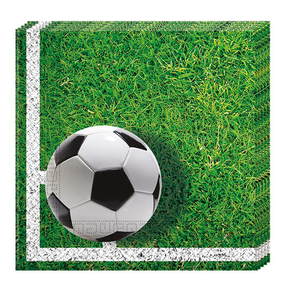 FOOTBALL PARTY (NEW) - 20 Papierservietten (2-lagig) 33x33cm