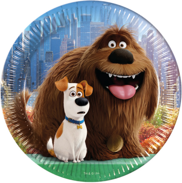 Secret Life of Pets - 8  23cm Pappteller in packets of 8 pieces