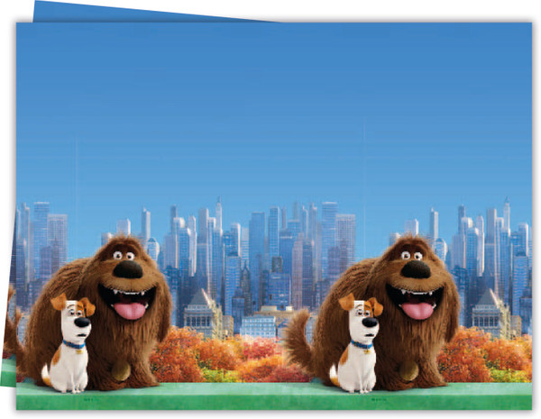 Secret Life of Pets - 1 Plastik Tischdecke in packets of 1