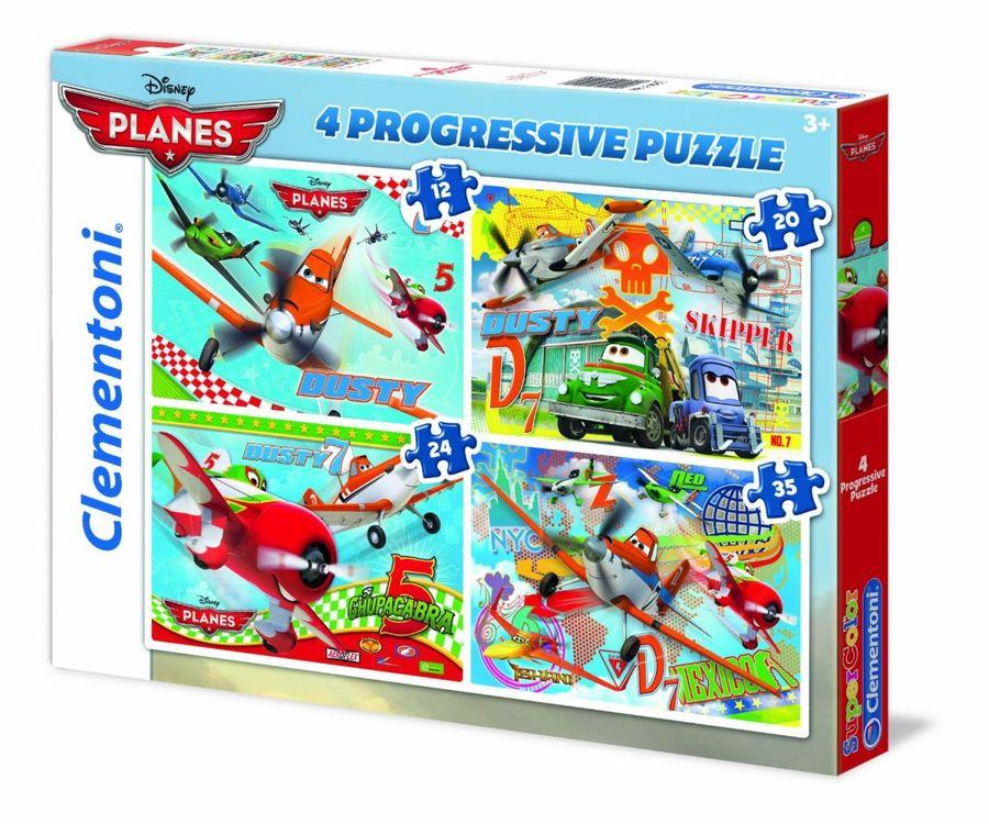 Disney Planes - 4 in 1 Puzzle 12+20+24+35