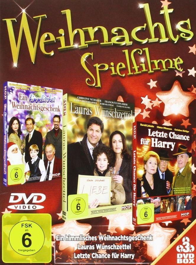 Weihnachtsspielfilme - 3 DVDs - Ein himmlisches Weihnachtsgeschenk - Lauras Wunschzettel - Letzte Chance für Harry