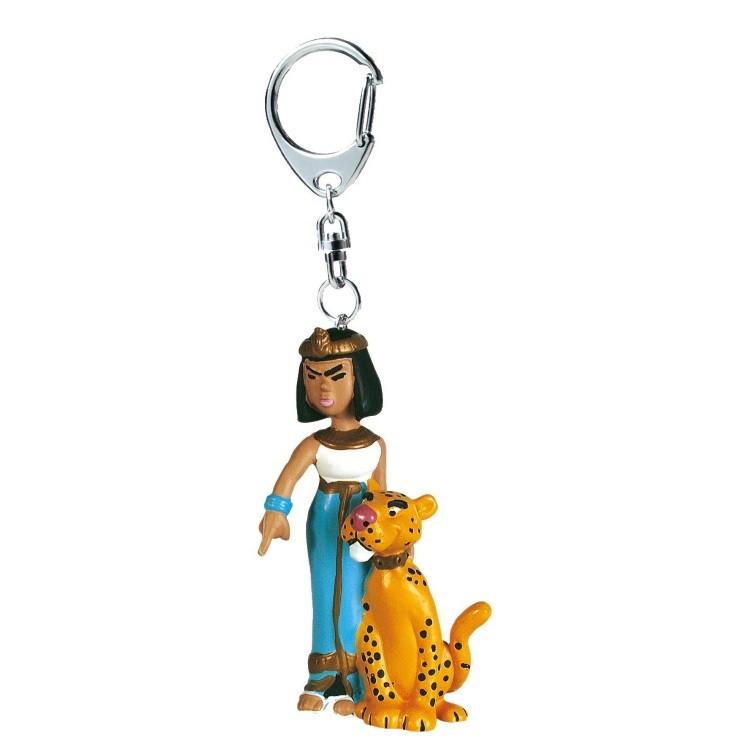 Asterix & Obelix - Kleopatra mit Leopard Schlüsselanhänger