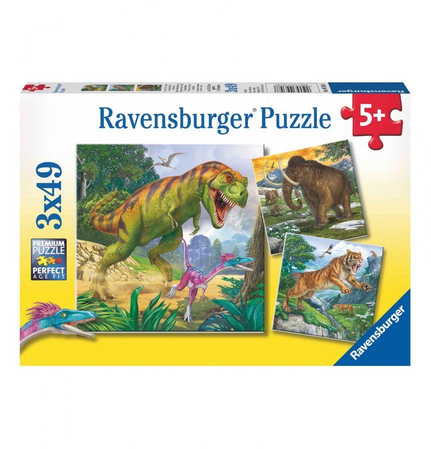 """3x49 Teile Puzzle - """"Herrscher der Urzeit"""""""