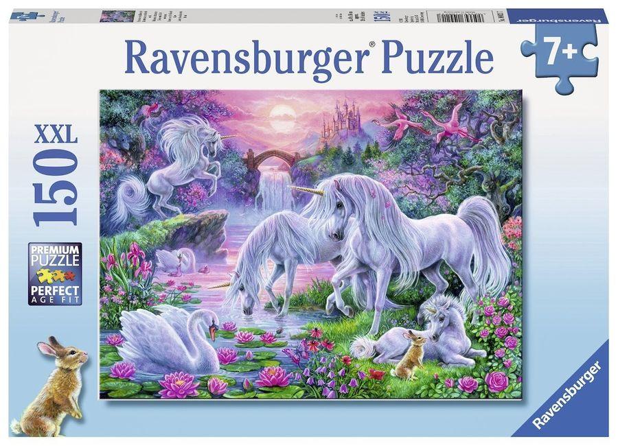 Einhörner im Abendrot  150 Teile XXL Puzzle