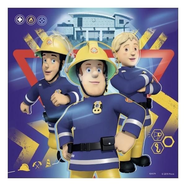 """Feuerwehrmann Sam -  3 x 49 Teile Puzzle """"Bei Gefahr Sam rufen"""" – Bild 4"""