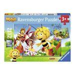"Biene Maja - 2 x 12 Teile Puzzle ""Biene Maja auf der Blumenwiese"" 001"