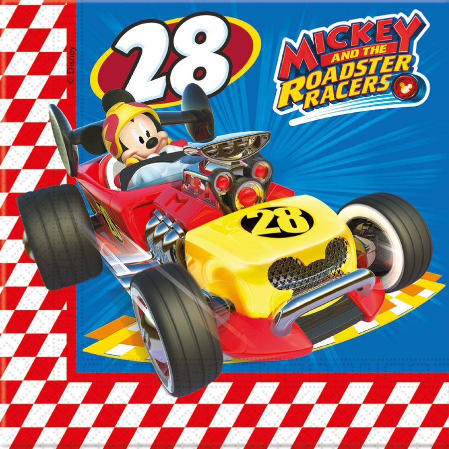 Mickey Roadster - 20 2lg. Papierservietten 33X33cm