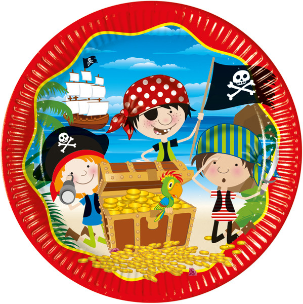 Little Pirates - 10 Pappteller 23 cm