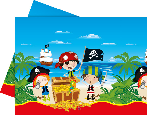 Little Pirates - 1 Plastik Tischdecke 120x180cm