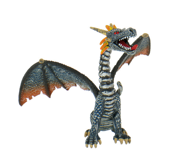 Magic / Fantasy Collection - Drache sitzend blau/silber - Spielfigur