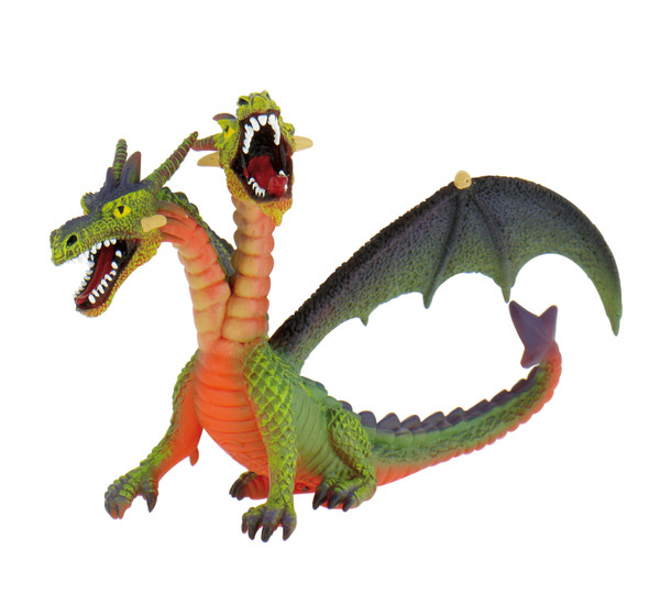 Magic / Fantasy Collection - Drache mit 2 Köpfen grün - Spielfigur