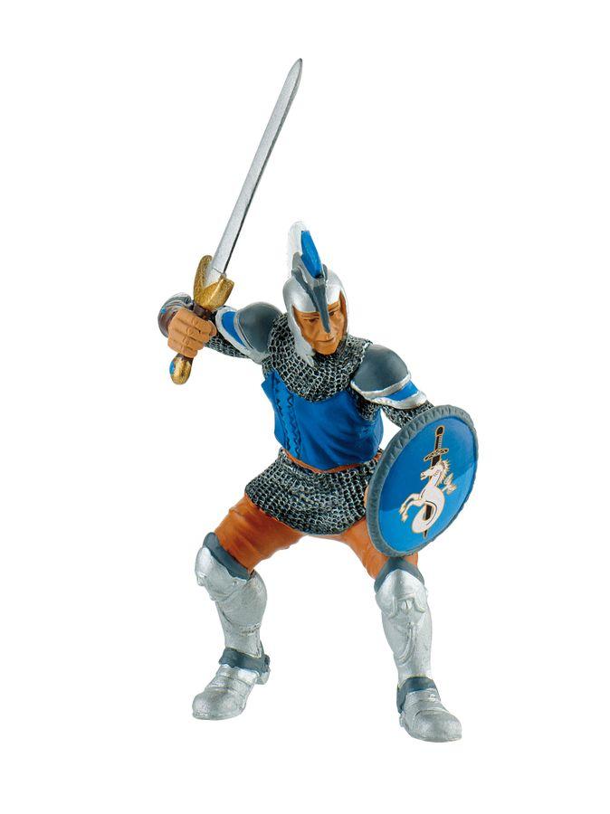Ritter - Schwertkämpfer blau - Spielfigur