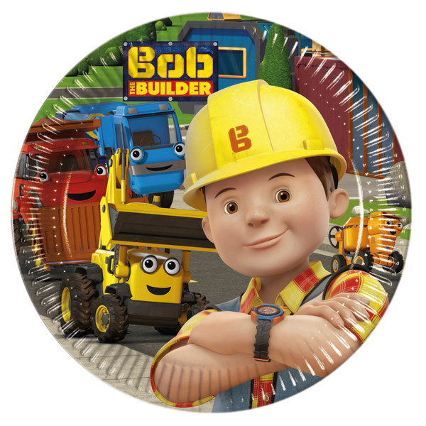 Bob the Builder - 8 Pappteller Medium 20cm