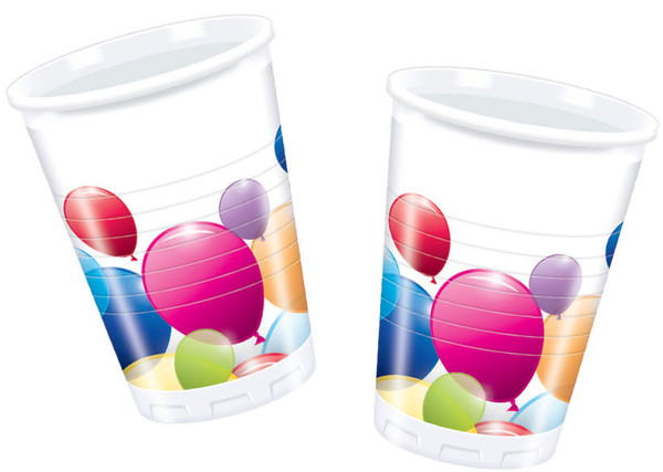 Flying Balloons - 10 Plastikbecher 200 ml