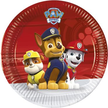 Paw Patrol - Ready For Action - 8 Pappteller Medium 20cm