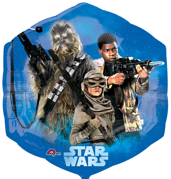 Folienballon Star Wars Ep VII 6-Eck
