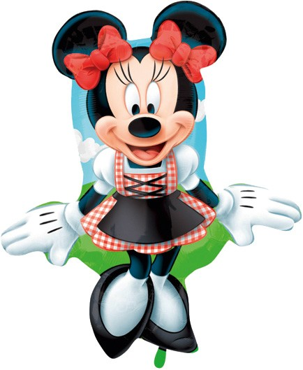 Folienballon Minnie Dirndl