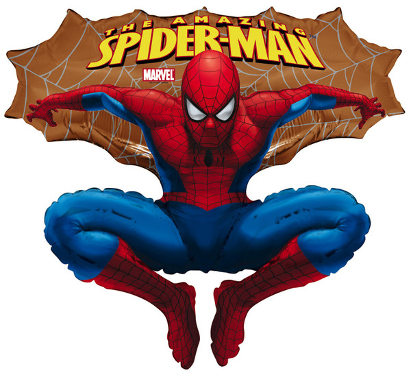 Folienballon Spiderman gold
