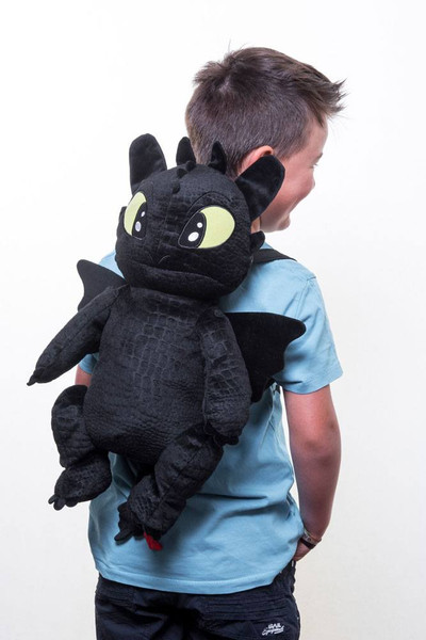Drachenzähmen leicht gemacht - Plüsch-Rucksack, Toothless – Bild 3