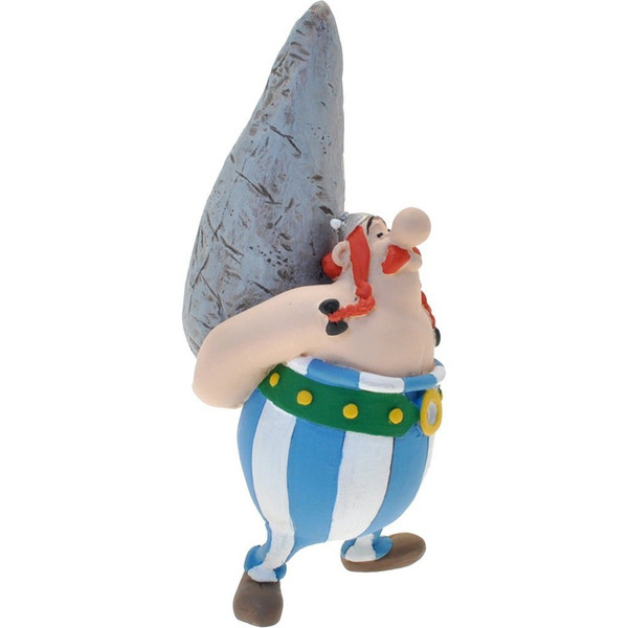 Asterix & Obelix - Sammelfigur Obelix mit Hinkelstein 12cm