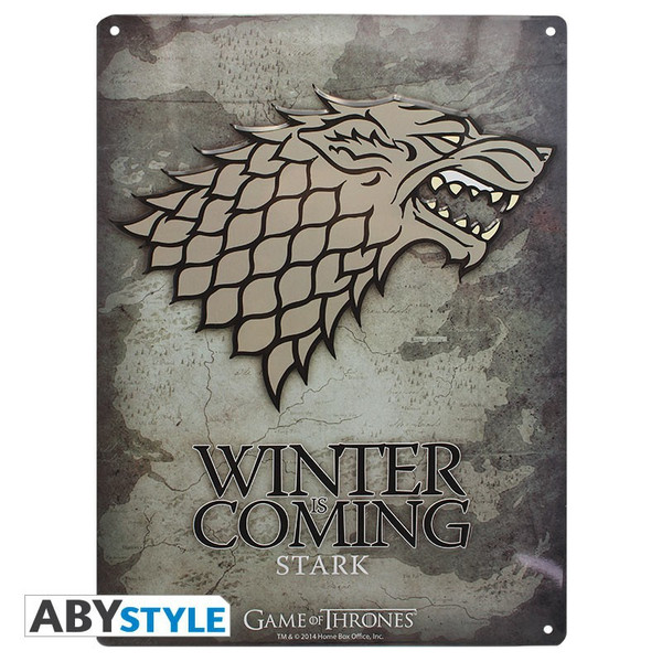 Game of Thrones Stark - Metallplatte - Emblem – Bild 1