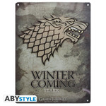 Game of Thrones Stark - Metallplatte - Emblem 001