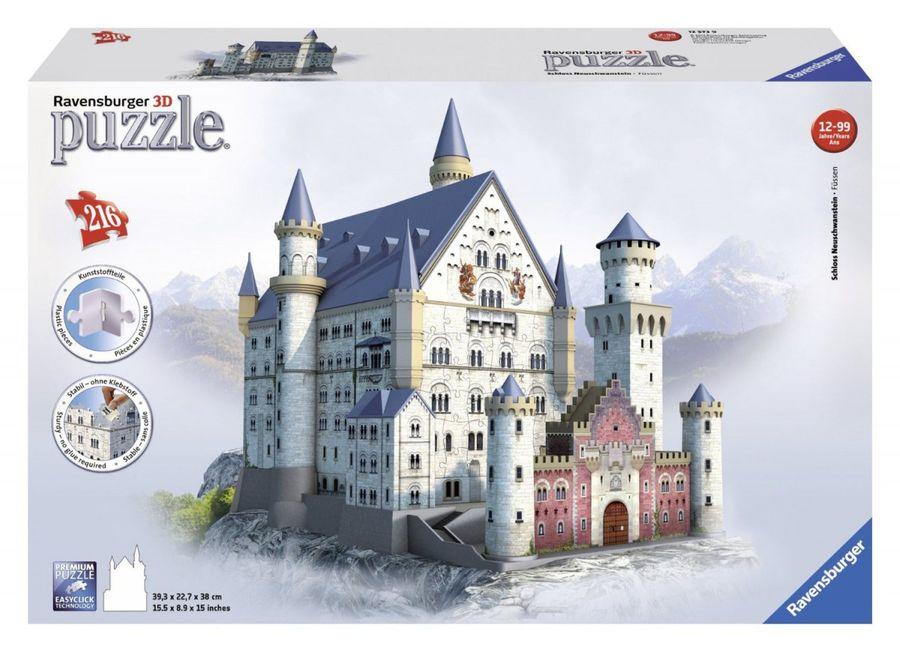 216 Teile 3D Puzzle-Bauwerke - Schloss Neuschwanstein – Bild 1