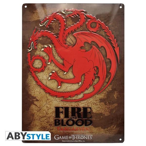 Game of Thrones Targaryen - Metallplatte - Emblem – Bild 1