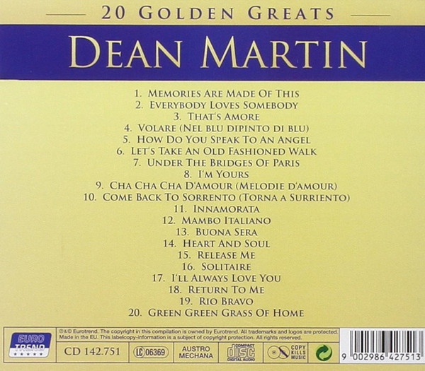 20 Golden Greatest - Dean Martin – Bild 2