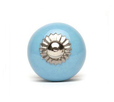 Möbelknopf klein hellblau