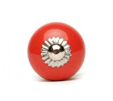 Möbelknopf groß uni rot