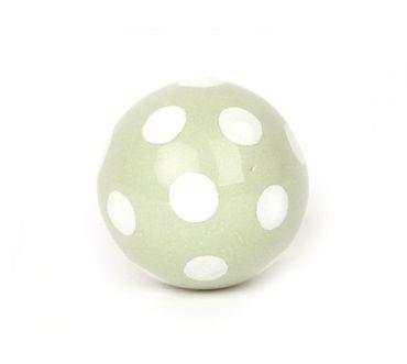 Möbelknopf Ball grün/ weiss