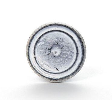 Möbelknopf weiß rund aus Eisen